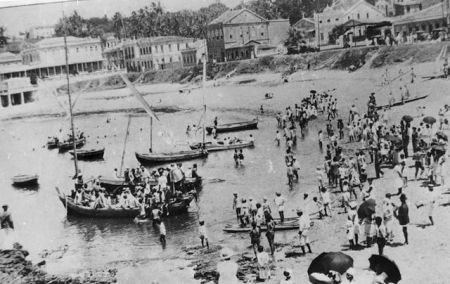 Bairro do Rio Vermelho no final do século XIX. Foto: Arquivo A Tarde